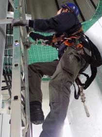 PSA und Leiter in einer Windenergieanlage