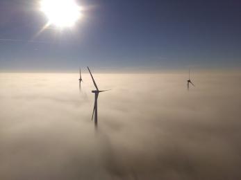 Ausblick von einer Windenergie-Anlage