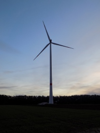 Abend in einem Wind-Park